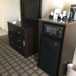 fridge, micro, dresser, tv