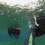 Tanto roupa quanto mascara e snorkel utilizados na flutuação são de boa qualidade! fazem a difer