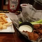 Fries and FANTASTIC Wings!