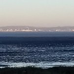 View across the Bristol Channel to Cardiff