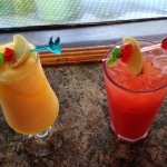Rum punch and a Passion fruit daiquiri