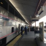 The Coast Starlight at Los Angeles Union Station