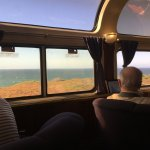 The ocean view from the parlor car