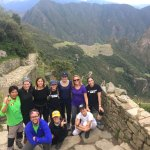 Photo taken with our amazing tour guide Juan Carlos H at the sun gate overlooking Macchu Picchu