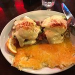 The Montana Club Restaurant on Brooks in Missoula, MT California Eggs Benedict & Golden Hash Bro
