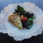 Quiche du Jour with salad