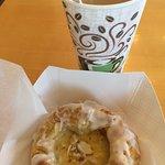 Custard danish with coffee