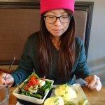 avocado mushroom benny w salad
