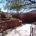 Entrance to sunken Visitor Center