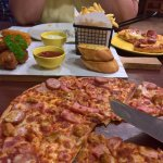 pizza and platter