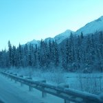 The drive to the Eagle River Alaska Nature Center.
