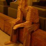 A wooden guest!!