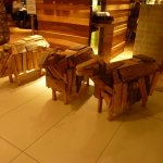 Wooden sheep in reception!