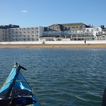 Pic taken from kayak on seaward side of hotel