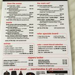 Menu - lots to choose from for families