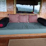 Couch on balcony to enjoy the view