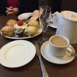 The Champagne cream tea - well, we'd drunk the Champagne ....
