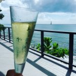 Champagne and an amazing view! Food was also exceptional.