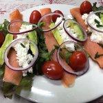 Salmon salad for summer