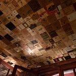 The ceiling of Enoteca al Volto