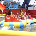 Watersport activities with ocean bumper
