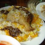 Pomfret fish with Rice