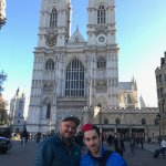 Us in front of Westminster Abbey.
