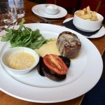 Sirloin Steak with blue cheese sauce