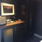 coffee/fridge/closet area