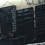Menu with prices