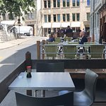 The ground floor bar offers a lovely sit out area overlooking the Rhone