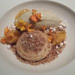 Verbena ice with Mirabelle plum and dulce de leche