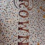 Detailed tile work on the floor