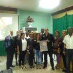 Trabajadores  en Homenaje a Fidel en ocasion del 1 aniv. de su partida fisica