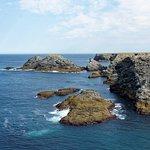 La côte sauvage, vue depuis le sentier