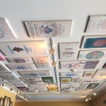 Wonderful ambience! Art work from locals, flour sack ceiling display and gorgeous pizza oven!