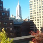 Awesome view of Empire state building from sitting, sunning or smoking area on 10th fl.roof.