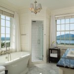 Baths with beautiful lake views