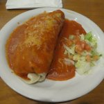 Burro, Enchilada-style... Big enough for two people!