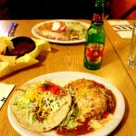 Beef taco and chile relleno