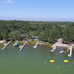 Beautiful aerial view of Bear Paw Resort