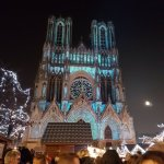 Reims Cathedral with the Christmas markets 2017