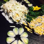 Avocado roll !! Spicy crab roll !! Special White Christmas roll!!