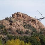 Serious rock climbers climb here.