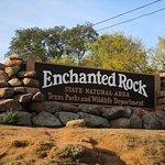 Entrance sign on Hwy. 16 north of Fredericksburg, TX.