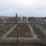 Protected section of the Wounded Knee Cemetery.