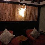 Cozy lounge area in the luxury safari lodge rooms