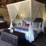 Bedroom in the luxury safari lodge rooms