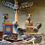 Haida carvings - Museum of Anthropology UBC