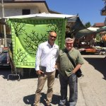 Alessandro, our fantastic driver and guide and Jim in Amaseno, Italy